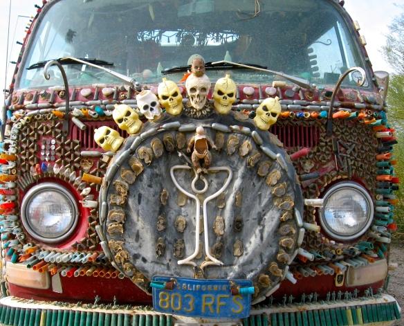Van at Slab City, California desert