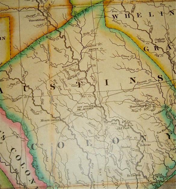 Austin Colony Map